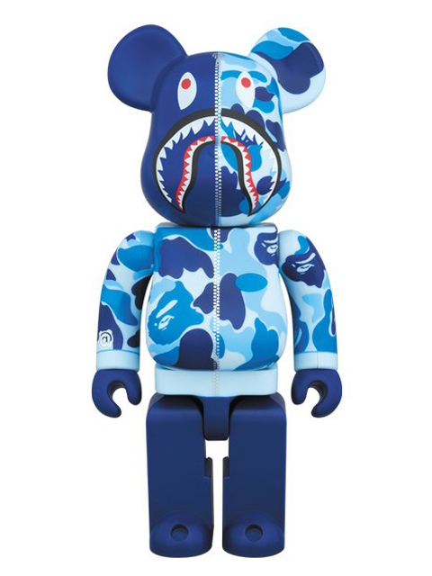 BAPE(R) CAMO SHARK BE@RBRICK ベアブリック ブルーVer. 400%