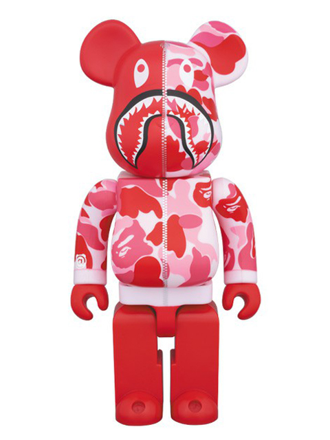 BAPE(R) CAMO SHARK BE@RBRICK ベアブリック ピンクVer. 400%