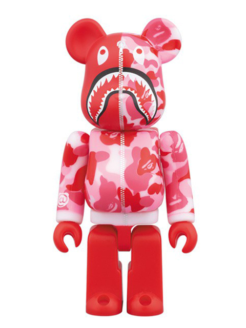 BAPE(R) CAMO SHARK BE@RBRICK ベアブリック ピンクVer. 100%