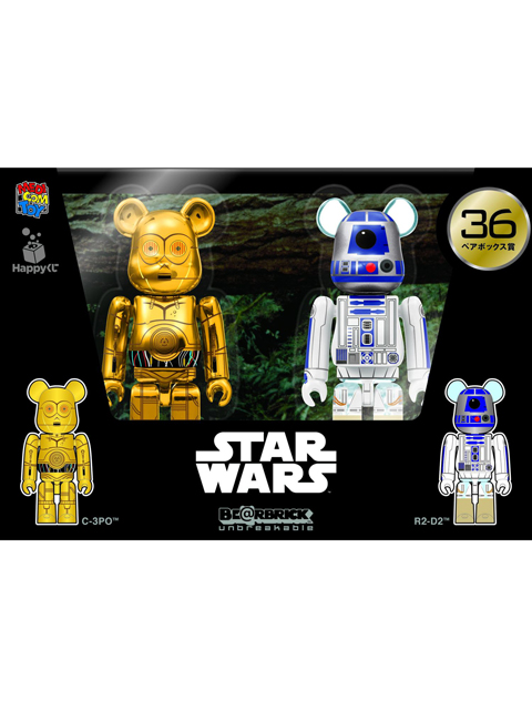 Happyくじ STAR WARS 36. C-3PO/R2-D2  BE@RBRICK ベアブリック 100%set