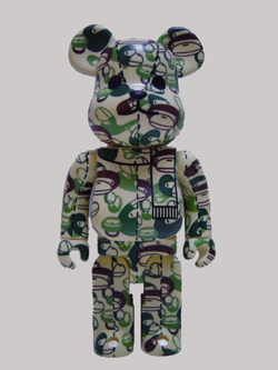 A BATHING APE BE@RBRICK 400% Milo FACE CAMO グリーン