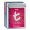 【訳有り品】【数量限定】ディルマ ≪t-シリーズ≫ローズ・フレンチバニラ リーフティー M缶100g:賞味期限2017年7月10日