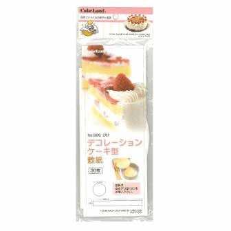 タイガークラウン デコレーションケーキ型敷紙(大) #566 30枚入