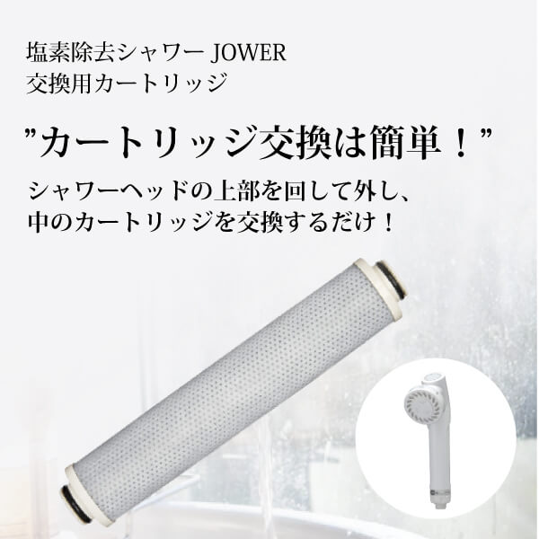 塩素除去シャワーJOWER&スキンビューティー3共通・交換用カートリッジ[商品番号:bi2545]