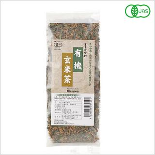 【煎茶の旨みと玄米の香ばしさ(有機JAS認定品)】オーサワの有機玄米茶150g [商品番号:ke3536]