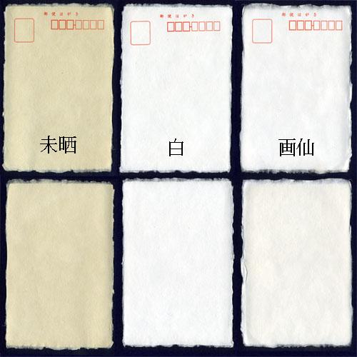605223s 一枚漉きハガキ 縁耳付き 10枚パック 0584  用紙選択
