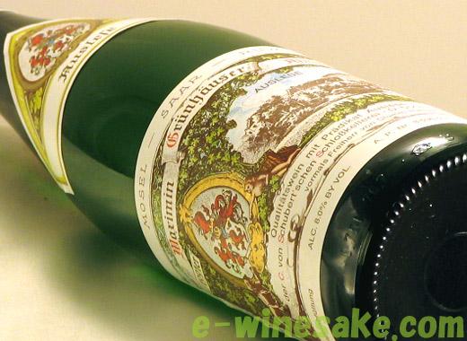 マクシミン・グリュンホイザー・アプツブルグ リースリング アウスレーゼ フォン・シューベルト ドイツ白ワイン