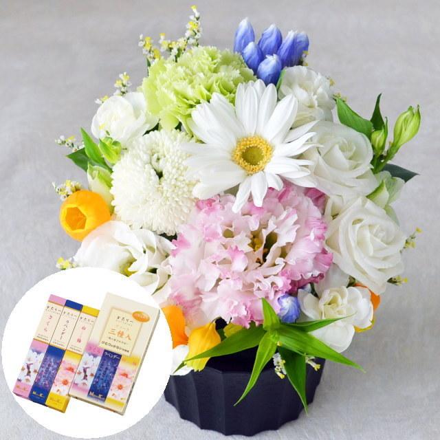 お供えアレンジメント・かたりべ アソート三種入セット(日本香堂)