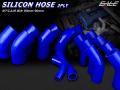 45°エルボ102φ 汎用シリコンホース 高強度3PLY ブルー ( SE17 )