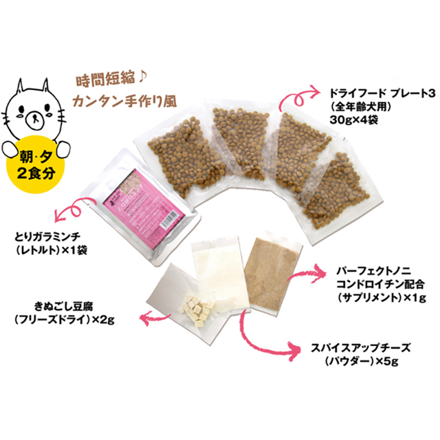 【KIT eat 01】 鶏ガラとなめらか絹ごしとうふサプリを添えて