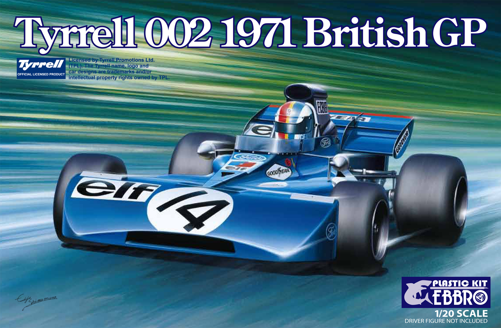【20008】1/20 Tyrrell 002 British GP 1971 【PLASTIC KIT】