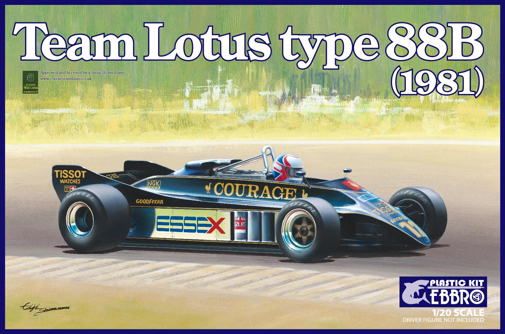 【20010】1/20 Team Lotus Type 88B 1981  【PLASTIC KIT】