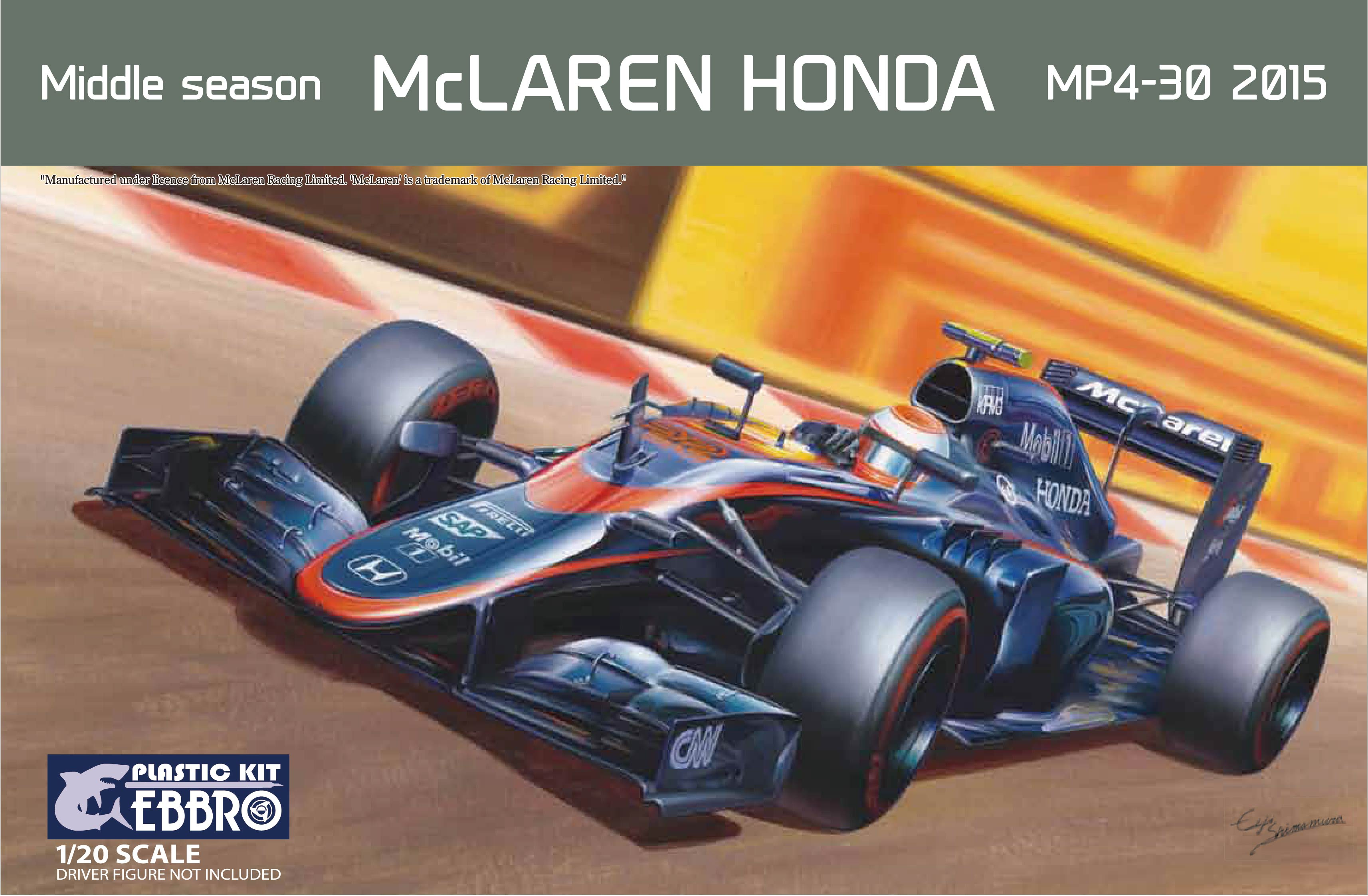 【20014】1/20 McLAREN HONDA MP4-30 2015 Middle Season  【PLASTIC KIT】