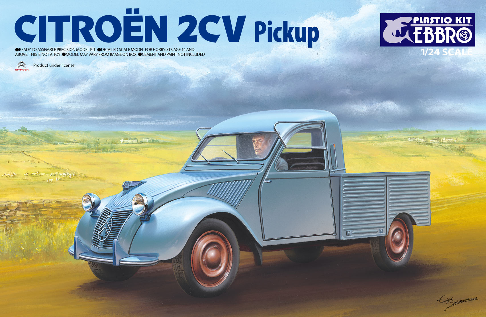 【25004】1/24 Citroen 2CV Pick up  【PLASTIC KIT】