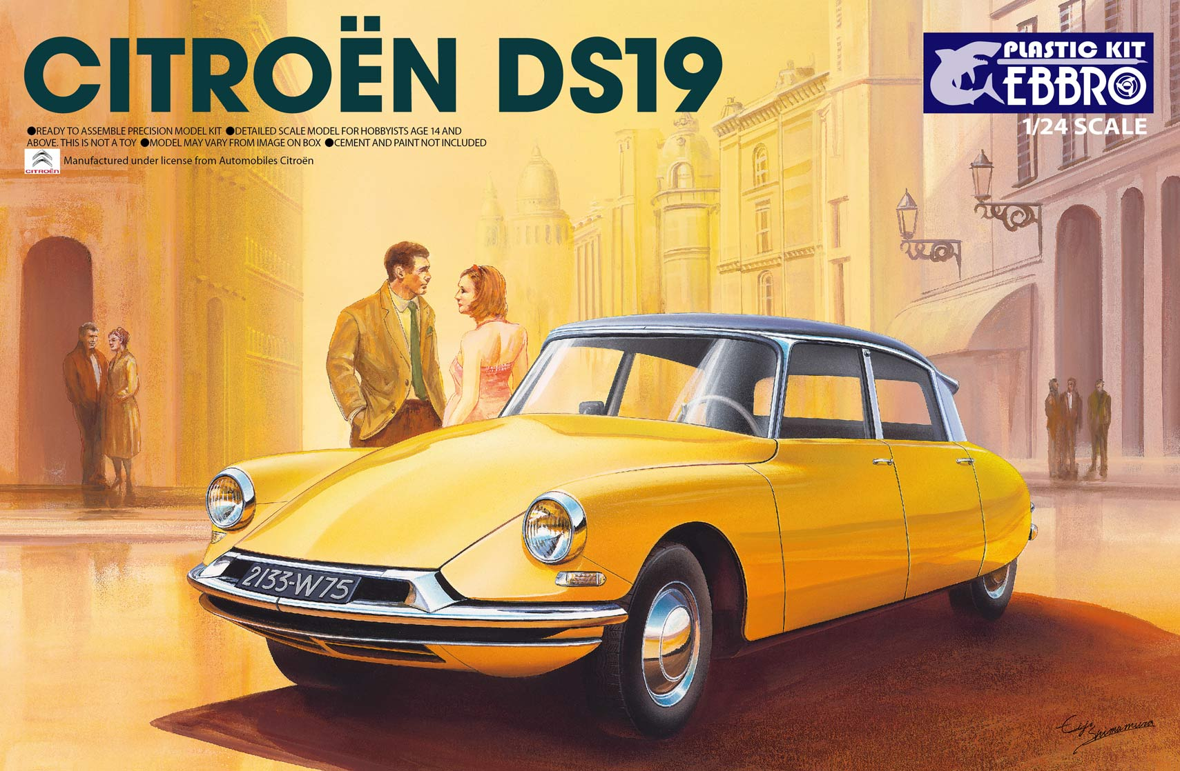 【25005】1/24 Citroen DS19  【PLASTIC KIT】