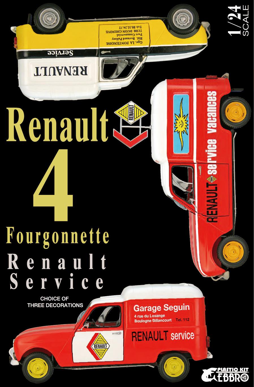 【25012】1/24 Renault 4 Fourgonnette Service Car 【PLASTIC KIT】
