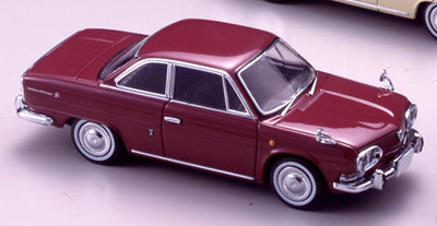 【43651】HINO CONTESSA 1300 COUPE 1965 (WINE RED)