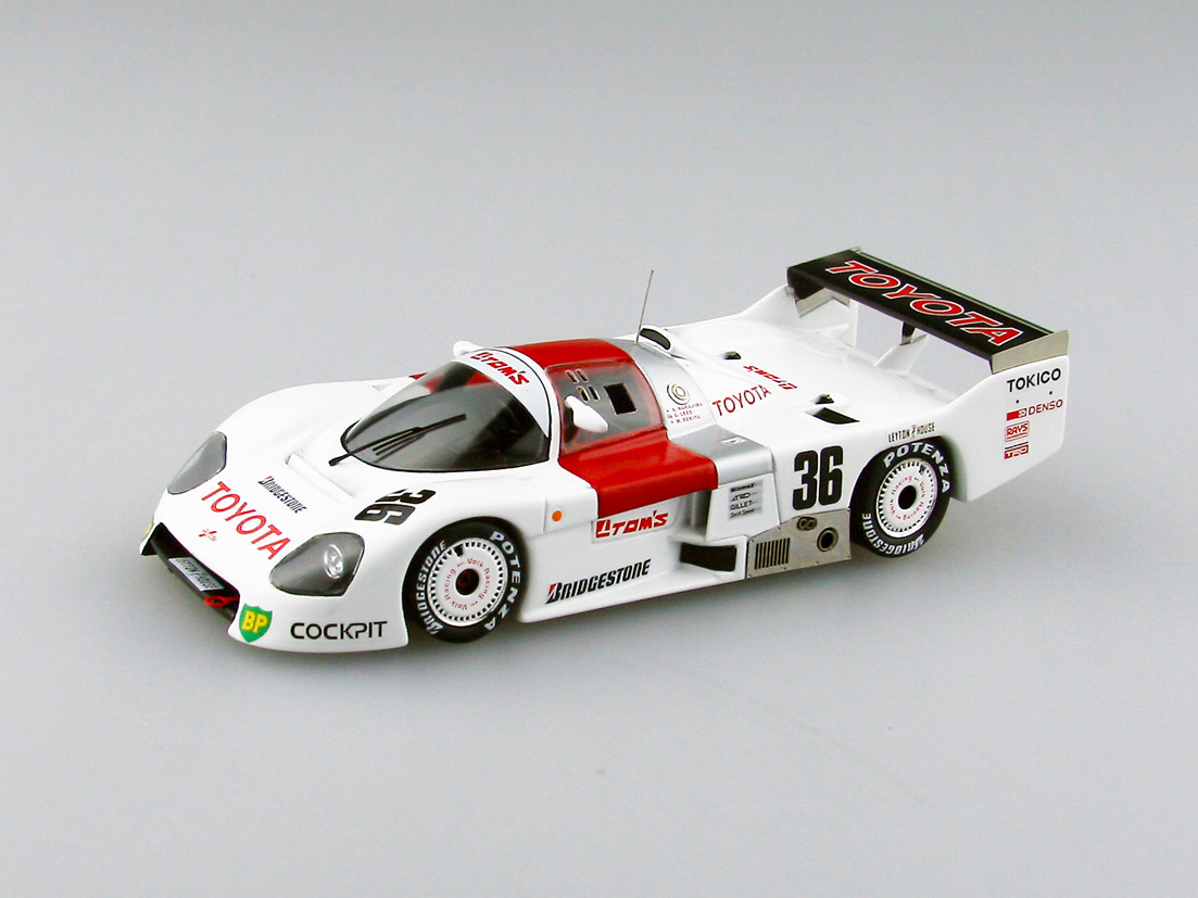 【44243】TOYOTA TOM'S 86C 1986 WEC JAPAN Fuji #36 【RESIN】