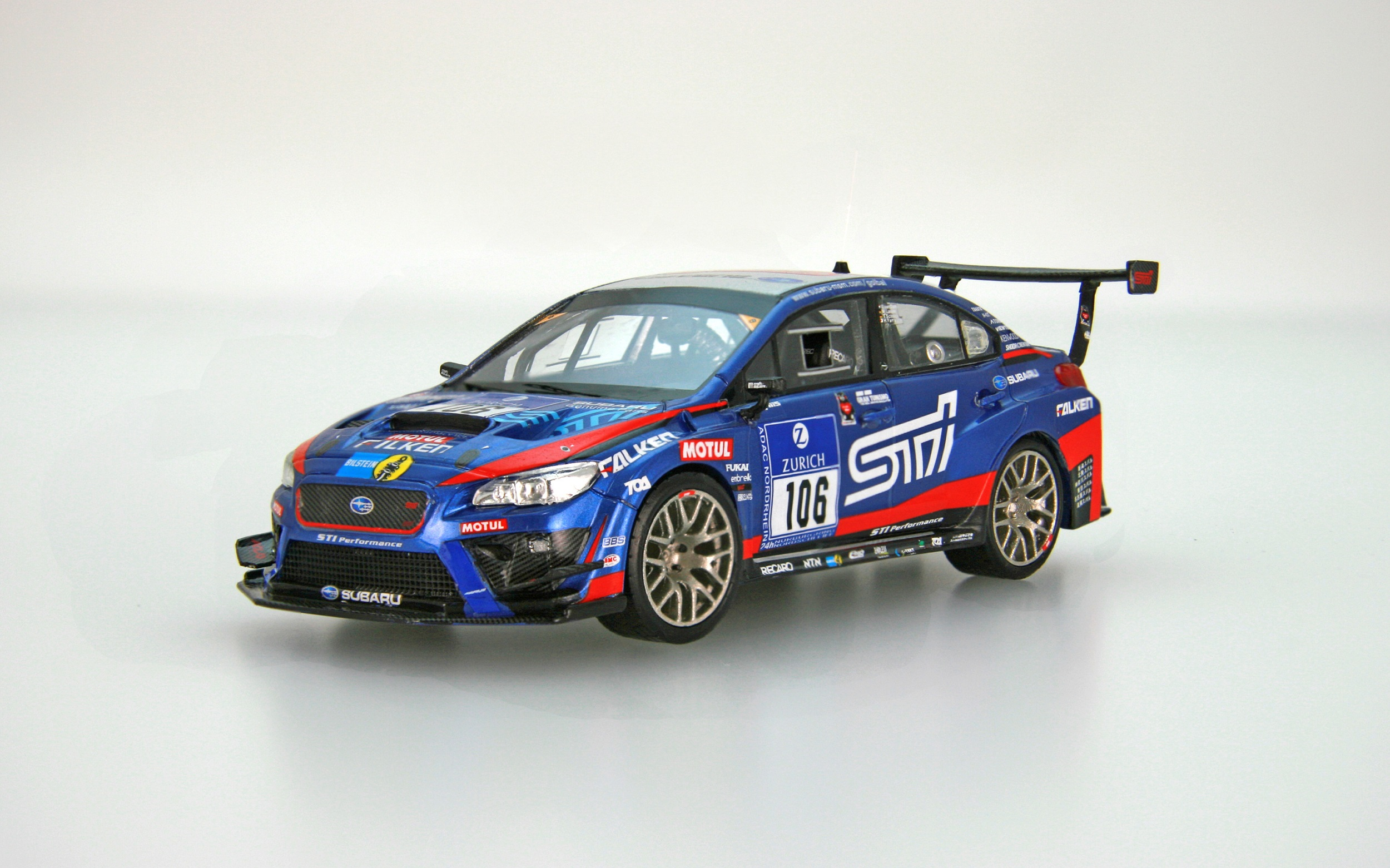 【45451】SUBARU WRX STI Nurburgring 24-hour Race 2016 No.106 [RESIN]