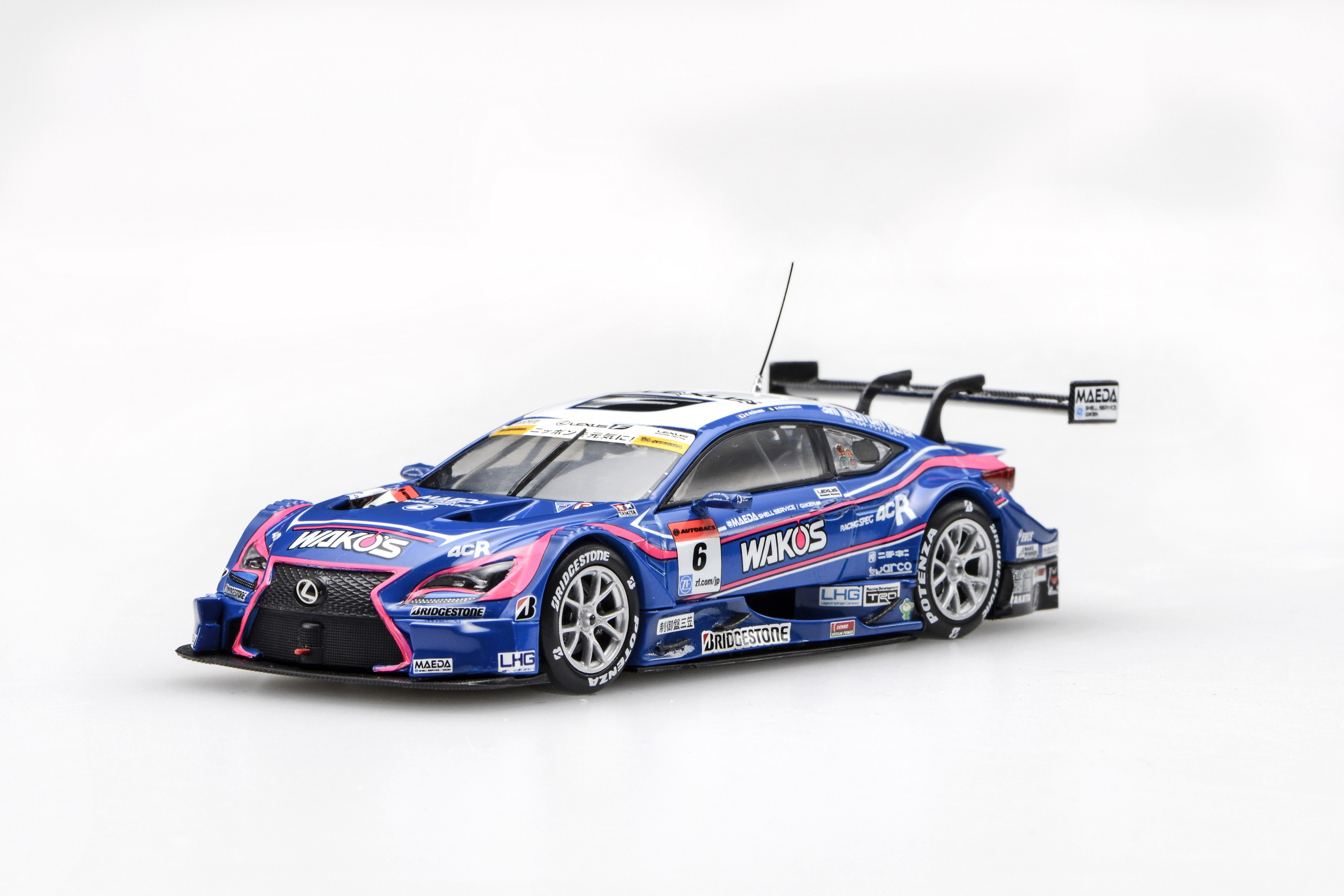 【45472】WAKO'S 4CR RC F SUPER GT GT500 2016 Rd.5 Fuji No.6