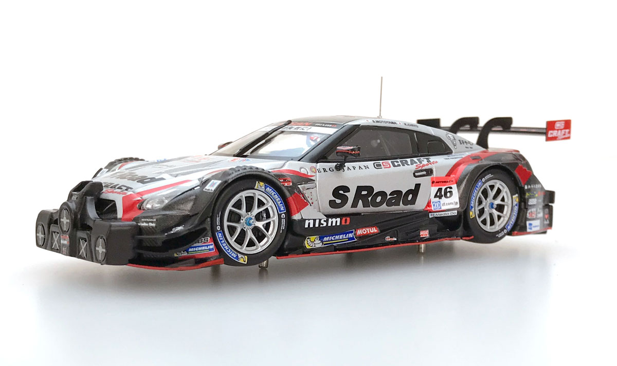☆EBBRO限定☆【45508】S Road CRAFTSPORTS GT-R SUPER GT GT500 2017 with the cooling fan and the jack