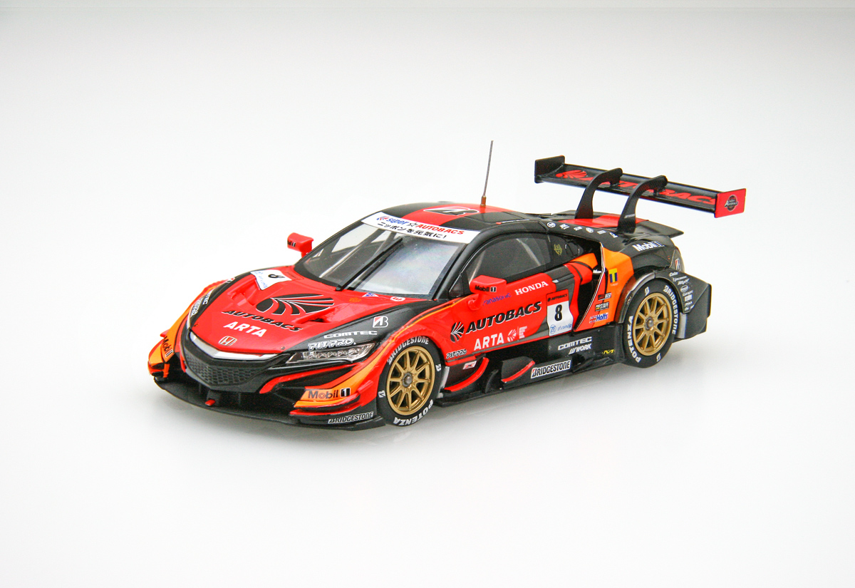 ☆EBBRO限定☆【45618】ARTA NSX-GT SUPER GT GT500 2018 Rd.8 Motegi Winner No.8