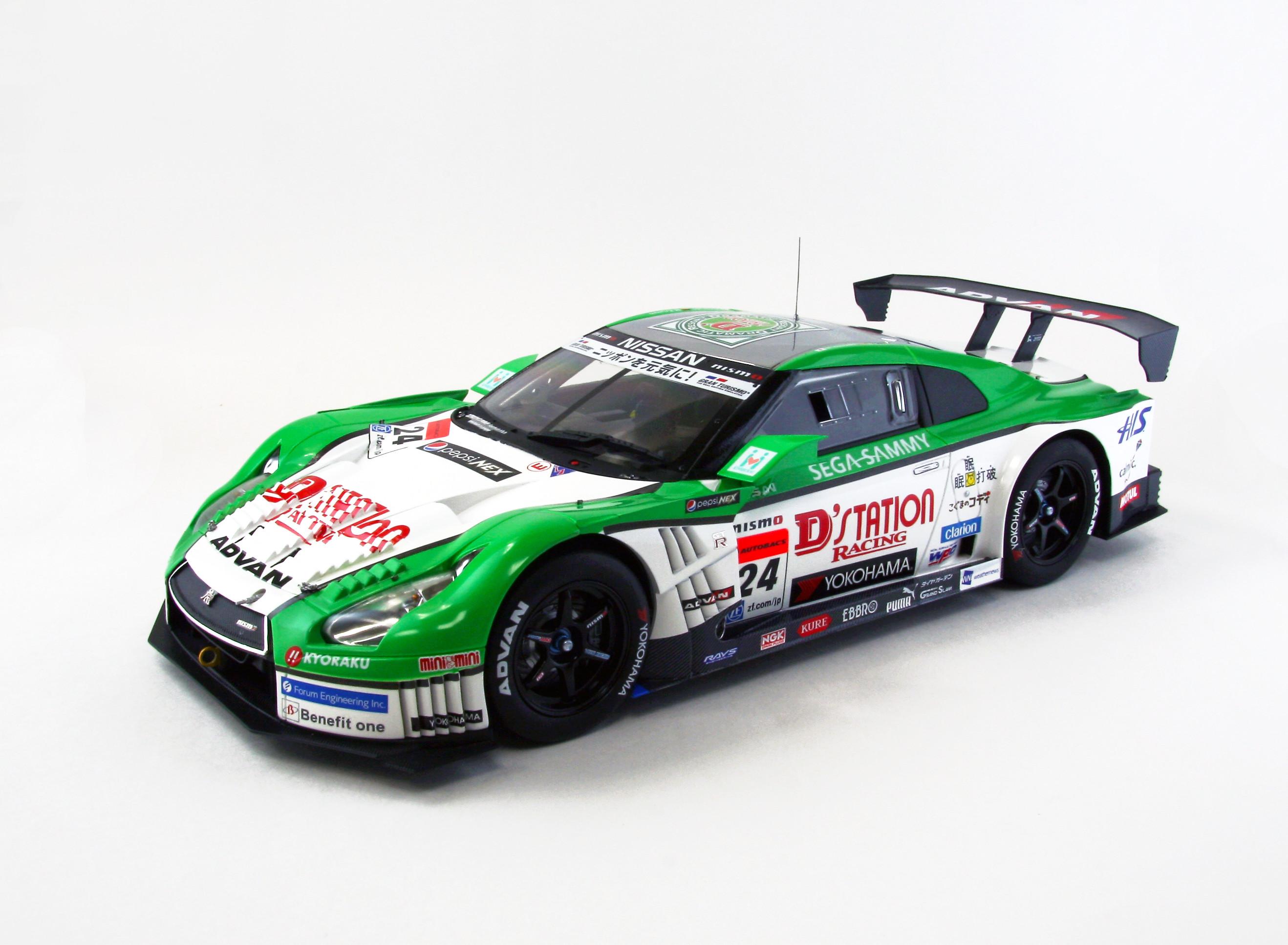 【81008】1/18 D'station ADVAN GT-R SUPER GT500 2013 No.24 【RESIN】