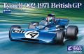 【20008】1/20 Tyrrell 002 British GP 1971 【PLASTIC KIT】