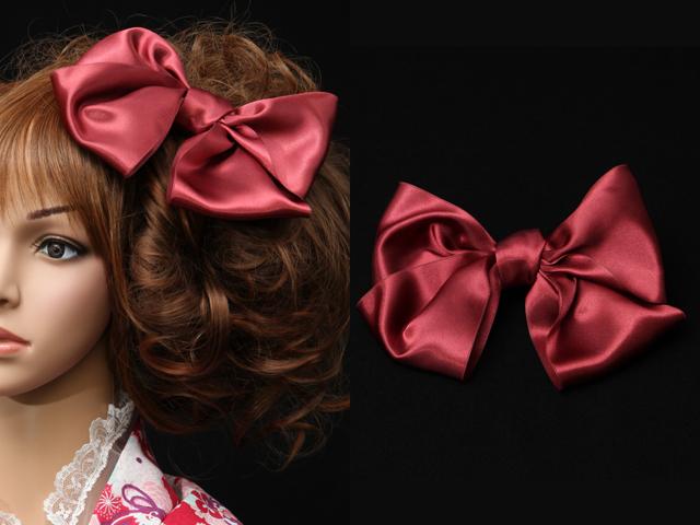 成人式・卒業式の髪飾り[2017年・2018年]~バーミリオンダリア・リボン~【送料一律1000円(※一部地域を除く)】
