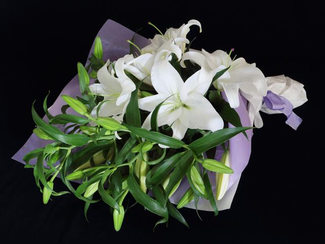 カサブランカの花束(百合の花束)【供養】