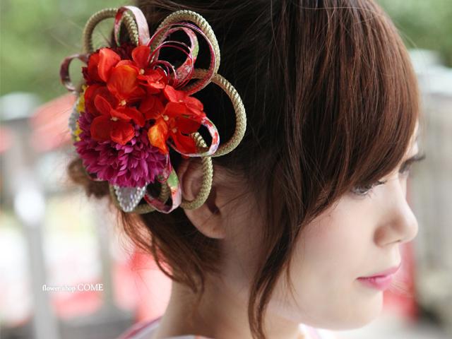 和装成人式・卒業式用の髪飾り(個性的な華やか)[5000円台]