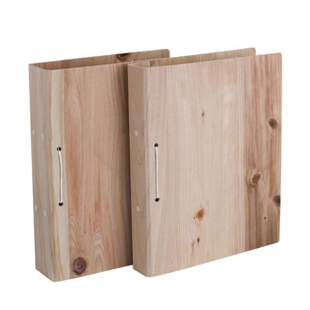 スギの間伐材パイプファイル 背幅3cm
