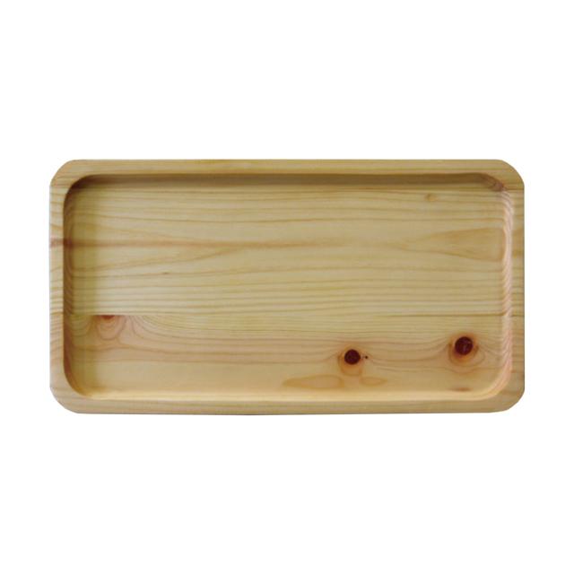 ひのき間伐材トレー 角型小