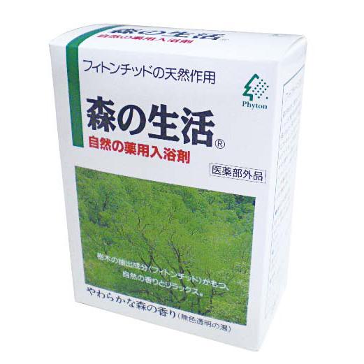 森の生活 自然の薬用入浴剤/やわらかな森の香り(無色透明の湯)