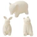 のんびり動物プチアロマ 白うさぎ/白くま/白バク