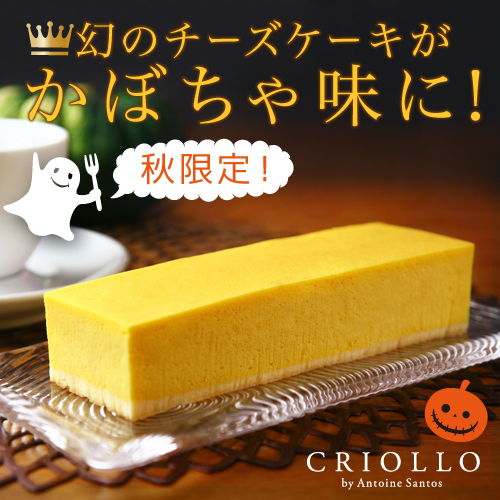 【ハロウィン限定】 パンプキンチーズケーキ(長方形)【冷凍便】