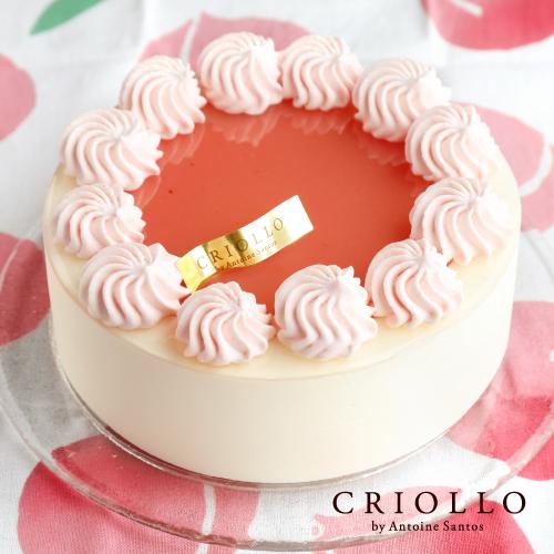【桃のレアチーズケーキ】レアチーズ・ペッシュ15cm送料無料!