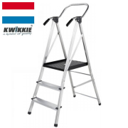 KWIKKIE 手すり付幅広安心作業台(折りたたみ式 大型踏み台)
