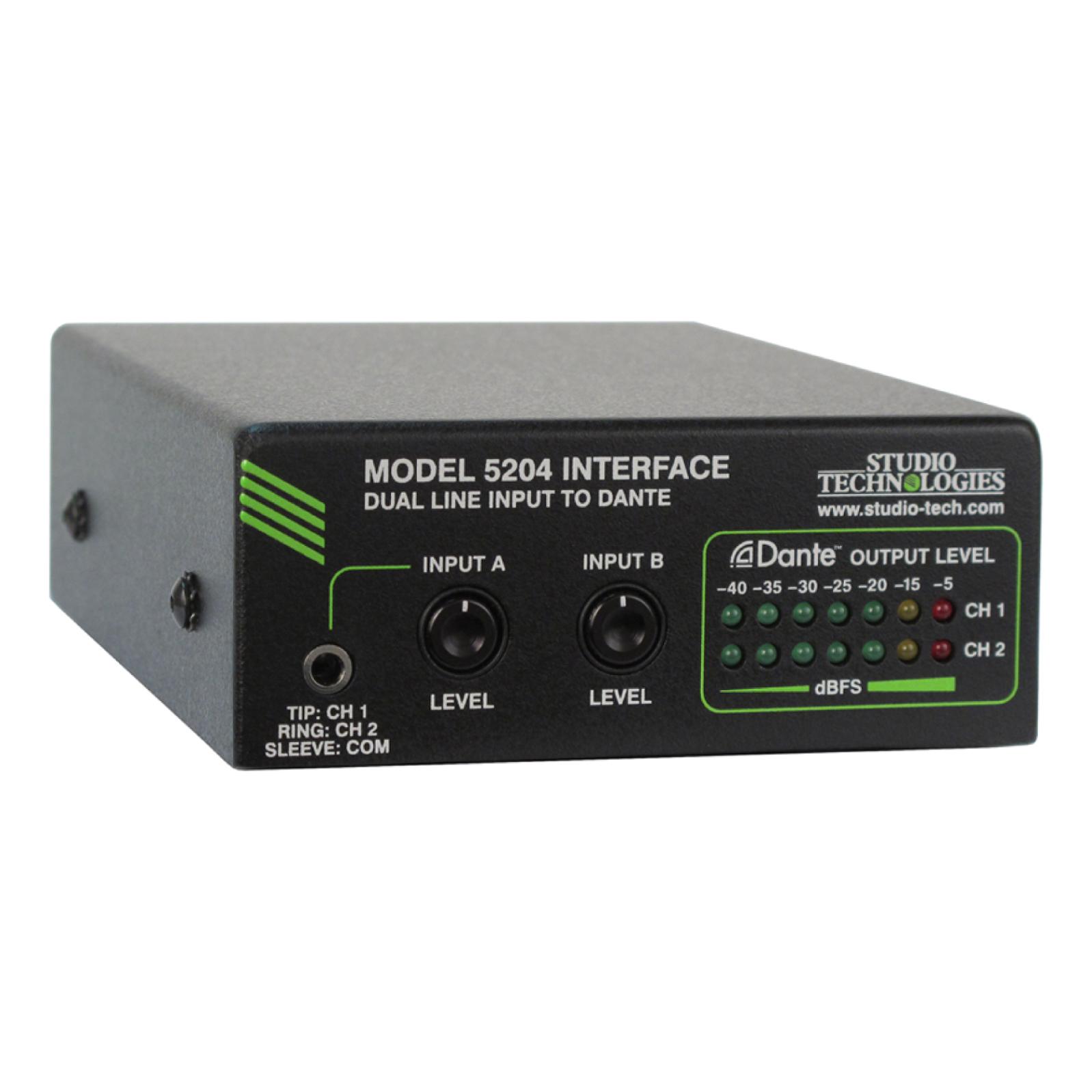 Studio Technologies デュアルライン入力搭載 Danteインターフェイス Model 5204