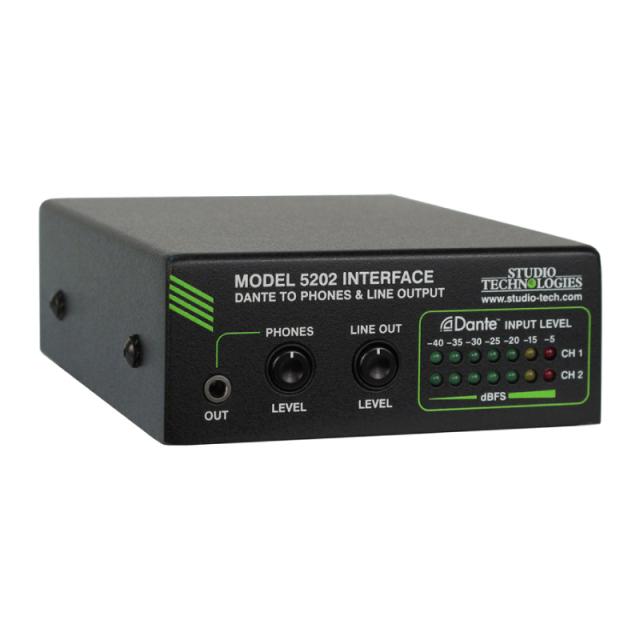 Studio Technologies ヘッドフォン/ライン出力搭載 Danteインターフェイス Model 5202