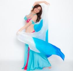 高級シルクベールR5-22サイズ236cm*110cm(3色ホワイト、ライトブルー、ブルー)【ネコポス便送料無料】