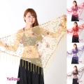 ヒップスカーフA125刺繍フリンジ(5 colors)【メール便送料無料】