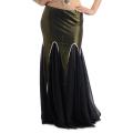 ベリーダンス衣装スカートD7(ブラック)ゴールド/シルバー【ネコポス便送料無料】