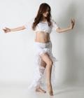オーバースカートSK19パステルフリル(white)【ネコポス便送料無料】