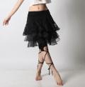 【SALE】オーバースカートSK41レースフリル(black)【ネコポス便送料無料】