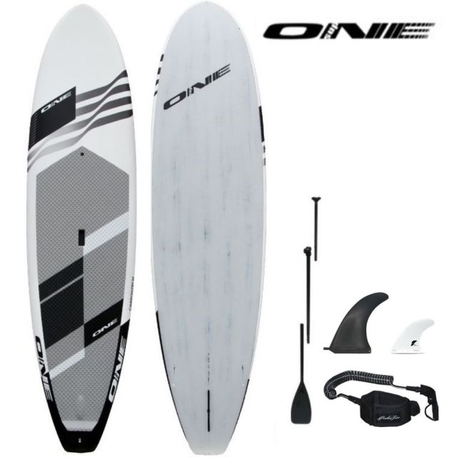 "【ONE ワン】 ONE SUP SURF WHITE 10'0""×30"" 147.5L アルミパドル・リーシュコード・フィンセット"