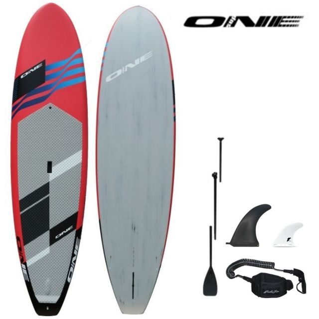 "【ONE ワン】 ONE SUP SURF CORAL 10'0""×30"" 147.5L アルミパドル・リーシュコード・フィンセット"