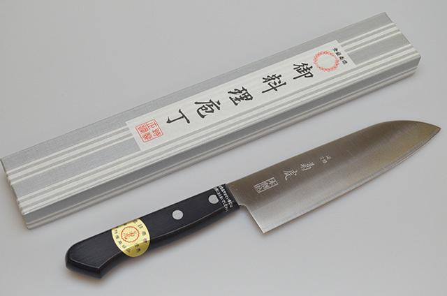 【村田刃物】菊虎 本割込 三徳包丁 170mm