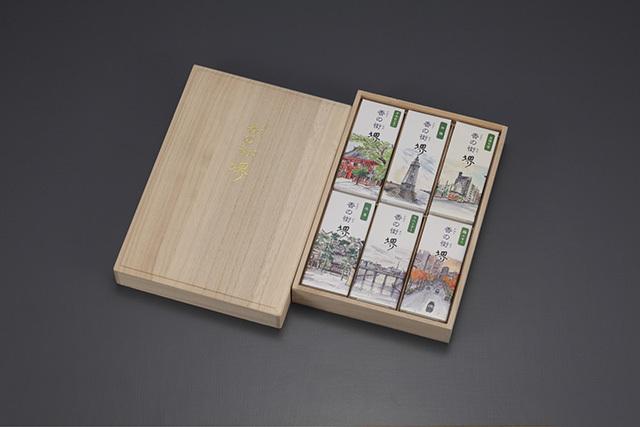【堺線香工業協同組合】香の街堺 木箱入セット6種入