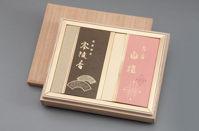 【薫明堂】桐 名香零陵香 名香白檀 2箱入